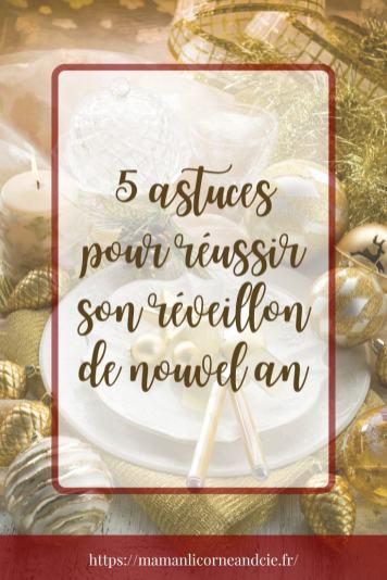 5 astuces pour réussir son réveillon de nouvel an pin