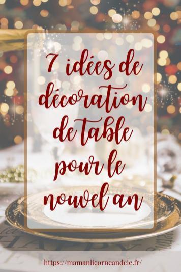 7 idées de décoration de table pour le nouvel an