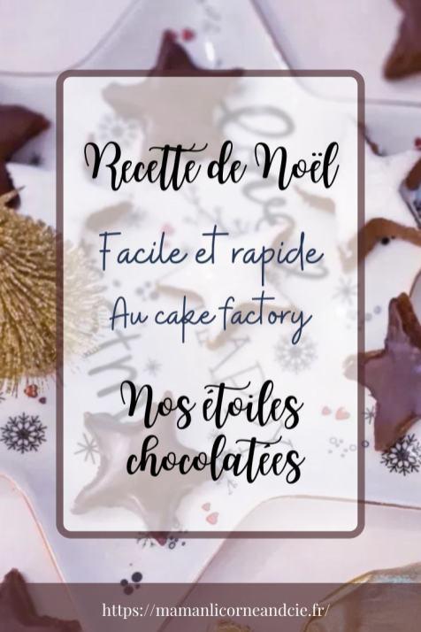 Recette de Noël - Nos étoiles chocolatées