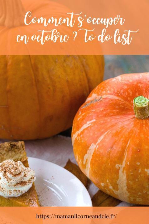 Comment s'occuper en octobre _ To do list