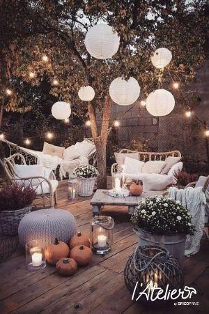 Idée décoration terrasse cocoon