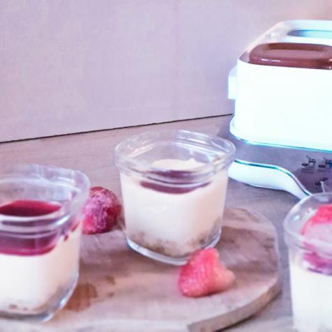Tiramisu fruits rouges à la yaourtière