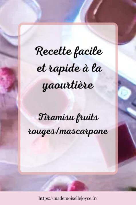 Recette yaourtière : Tiramisu fruits rouges_mascarpone