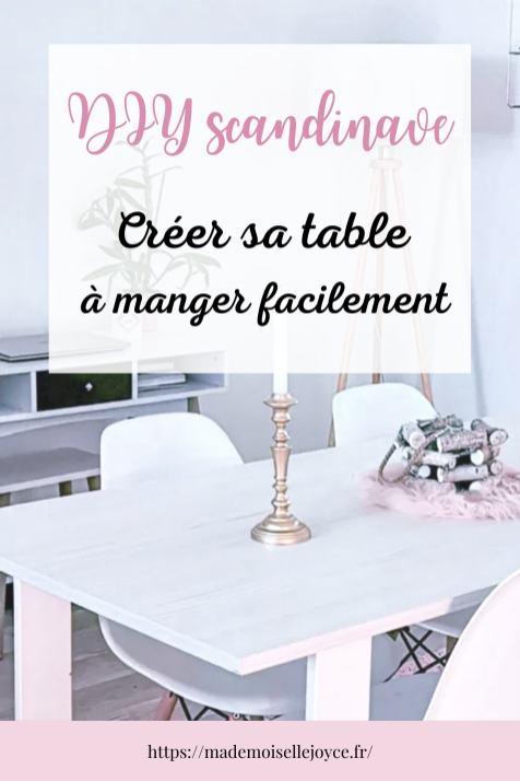 DIY table à manger scandinave