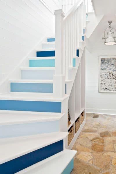 Escaliers relookés avec de la peinture