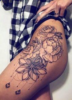 Idées tatouage cuisse pour femme
