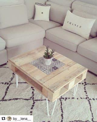 Les plus jolies créations en palettes de bois, table basse