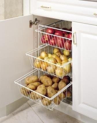 Idées rangement légumes petite cuisine