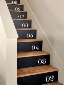 Refaire escaliers noir et bois