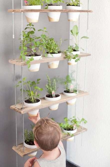 accroche plantes en palettes