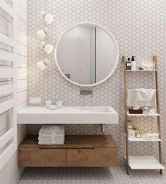 décoration bois petite salle de bain