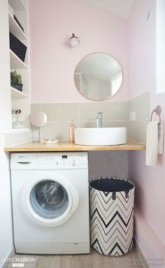 Petite salle de bain girly
