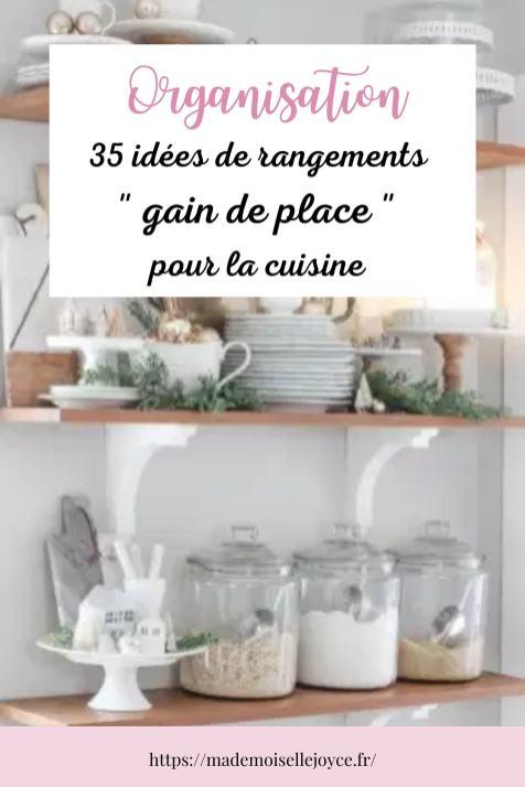 Rangements gain de place pour cuisine