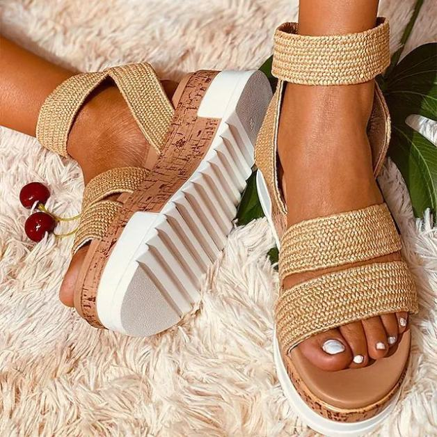 Sandales plates été 2021 kaki