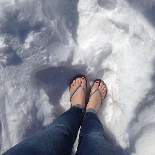 pieds-neige