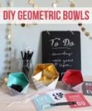 geometric paper bowls