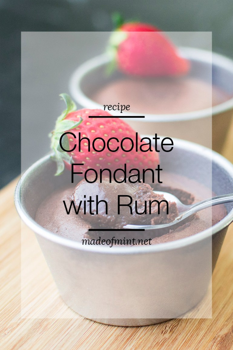 Chocolate Fondant with Rum | madeofmint.net
