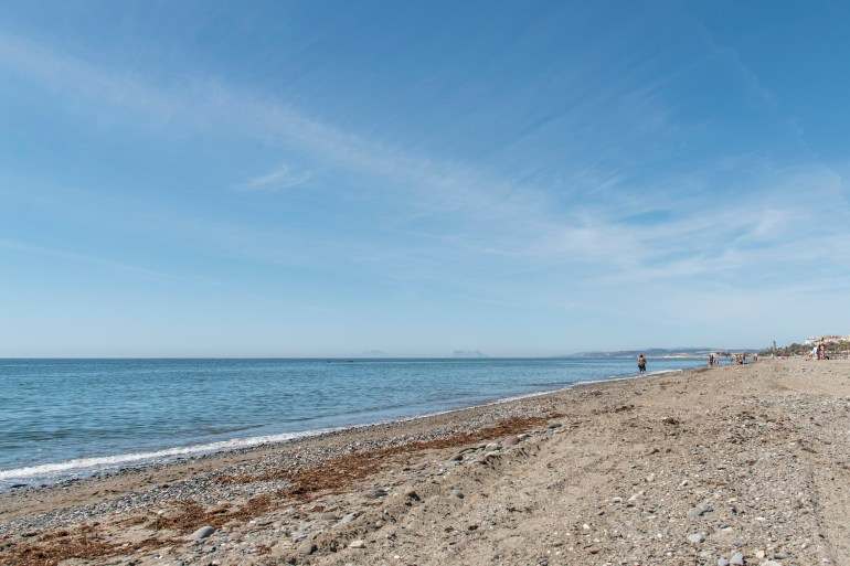 Estepona beachfront into the distance