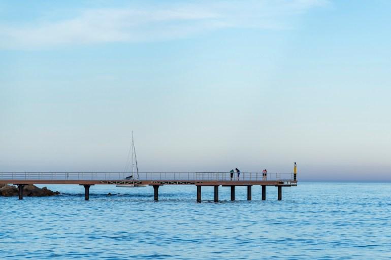 Jetty on the Mediterranean Sea