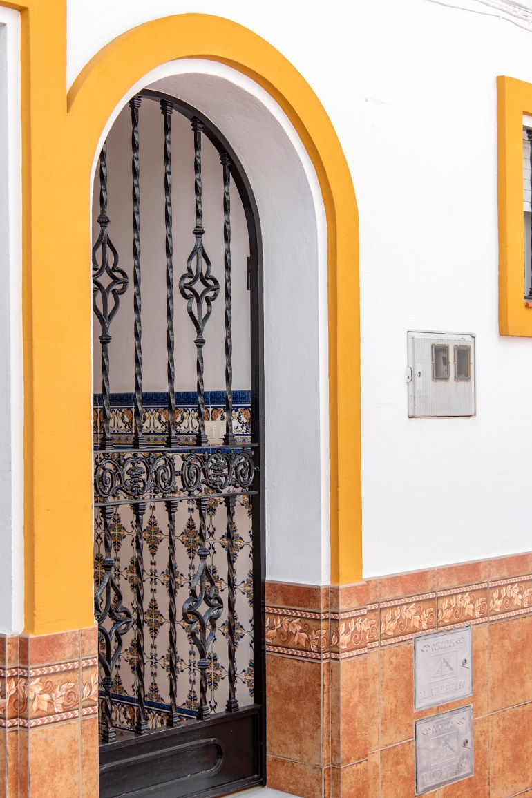 Typical terraced house entrance in Estepona