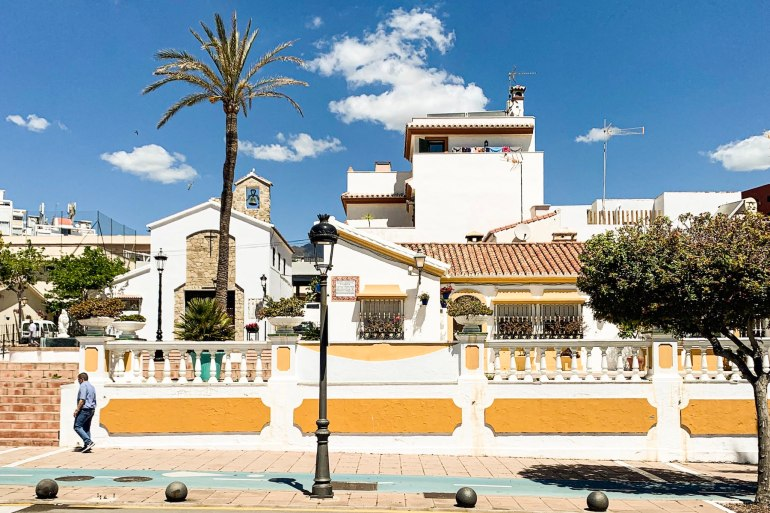 Yellow painted buildings in Centro Histórico de Estepona