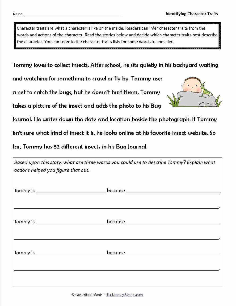 medium resolution of 12 Character Traits Worksheet 3rd Grade   Worksheets Ideas Printable