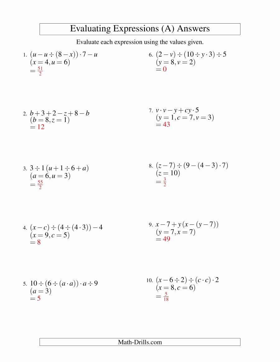 medium resolution of 12 Numerical Expressions Worksheets 6th Grade   Worksheets Ideas Printable