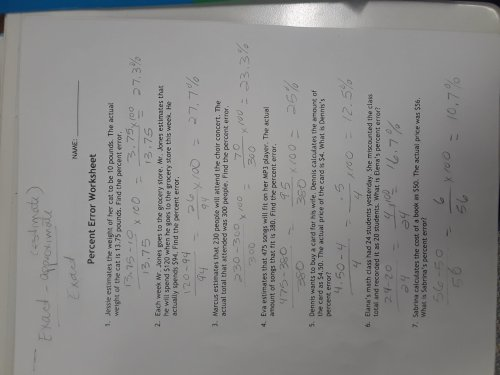 small resolution of 12 Percent Error Worksheet Answer Key   Worksheets Ideas Printable
