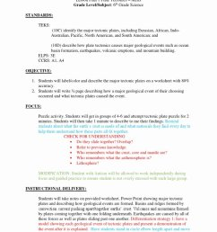 12 Plate Tectonics Worksheet 6th Grade   Worksheets Ideas Printable [ 1024 x 768 Pixel ]