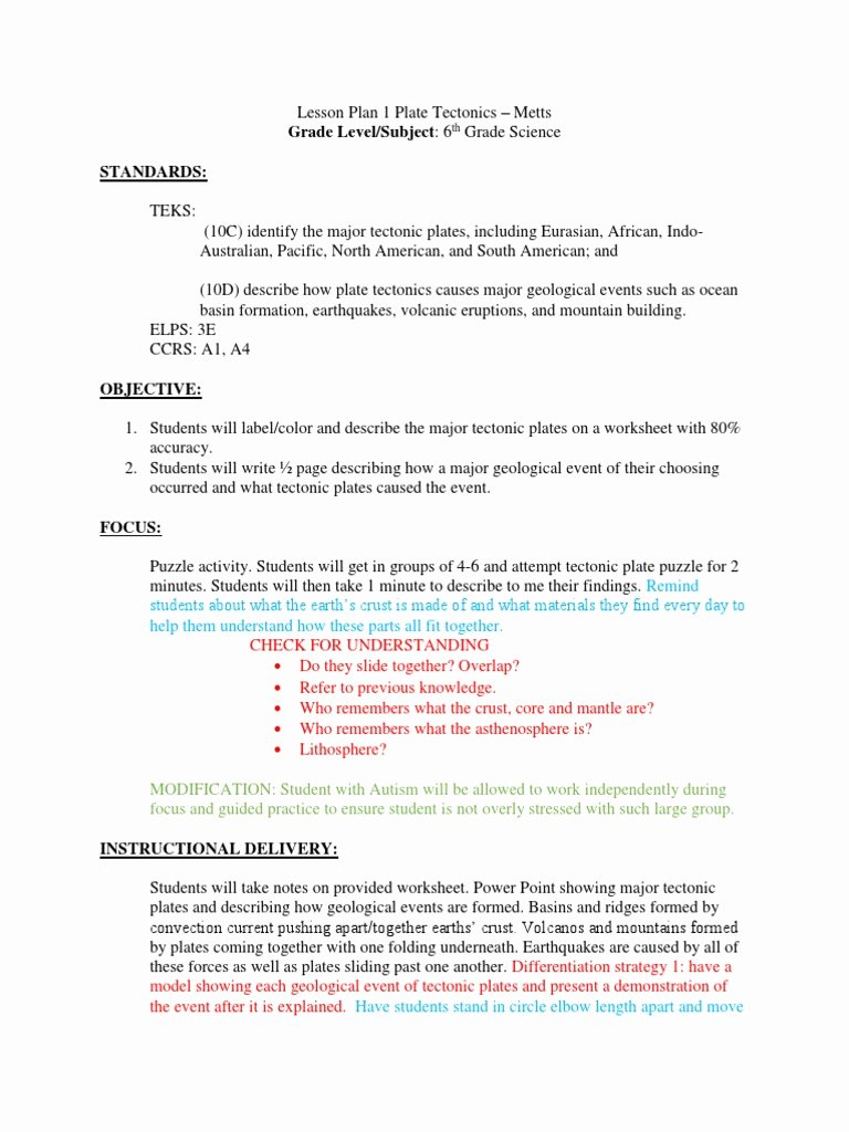 hight resolution of 12 Plate Tectonics Worksheet 6th Grade   Worksheets Ideas Printable