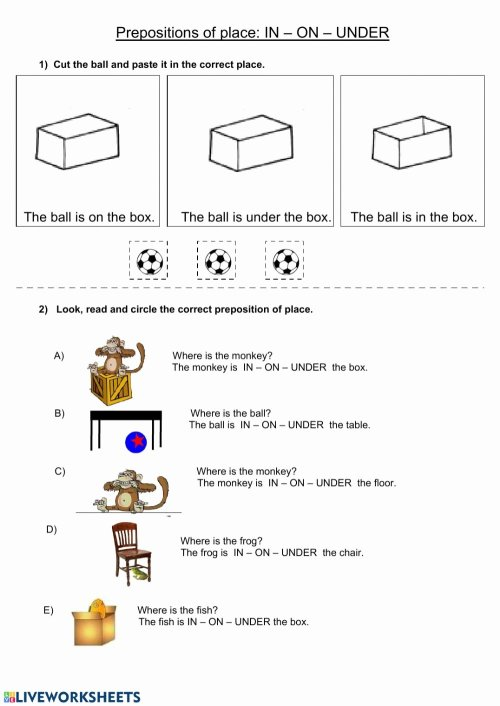 small resolution of 12 Preposition Worksheets for Grade 1   Worksheets Ideas Printable