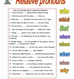 Relative Pronouns Worksheet Grade 4 top Relative Clauses English Esl Worksheets  for Distance – Worksheets Ideas Printable [ 1079 x 763 Pixel ]