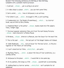 Relative Pronouns Worksheets 4th Grade Lovely Relative Pronouns Worksheet  Grade 4 Relative Clauses In 2020 – Worksheets Ideas Printable [ 1440 x 1018 Pixel ]