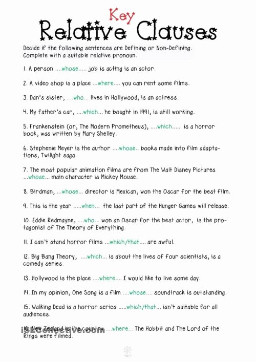 small resolution of Relative Pronouns Worksheets 4th Grade Lovely Relative Pronouns Worksheet  Grade 4 Relative Clauses In 2020 – Worksheets Ideas Printable