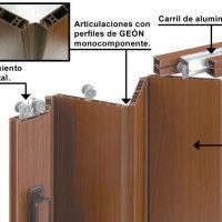 Detalles técnico puerta plegable