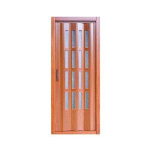 Puerta plegable con cristal