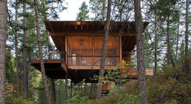 cabaa de madera moderna cabaa de madera actual