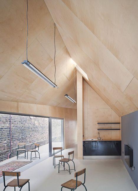 fotografia techo a dos aguas panelado