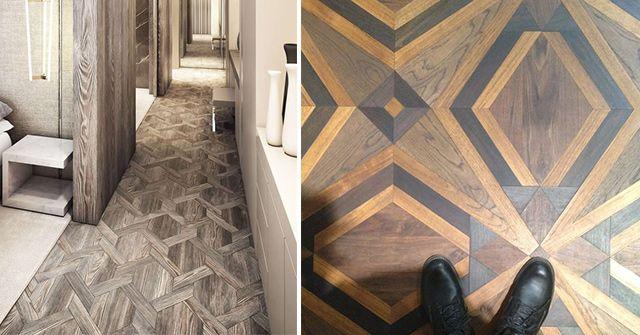 suelos geométricos madera