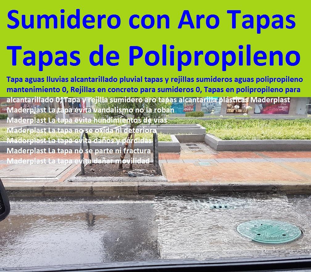 14 Tapas plsticas Alcantarilla Manjoles Tanques Sumideros