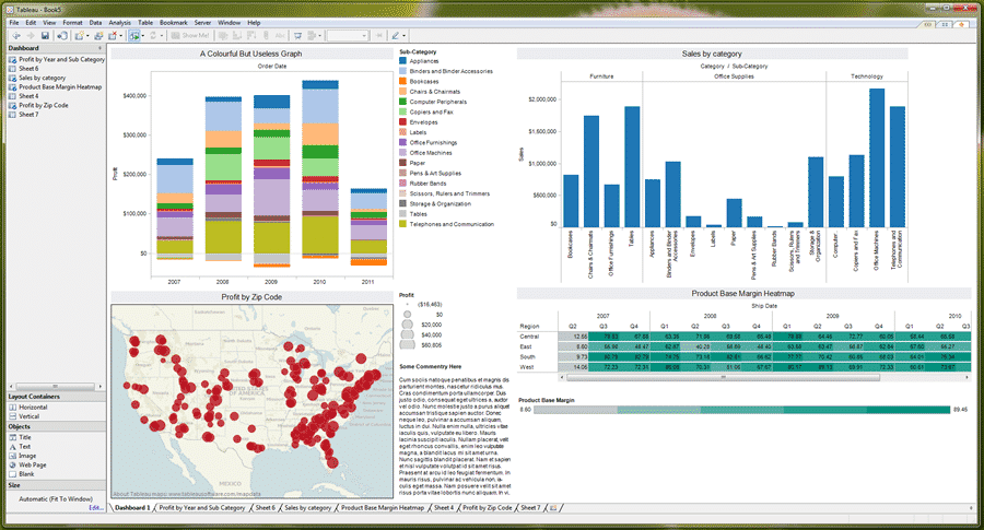 First Look Tableau 6 1 Data Visualisation Software