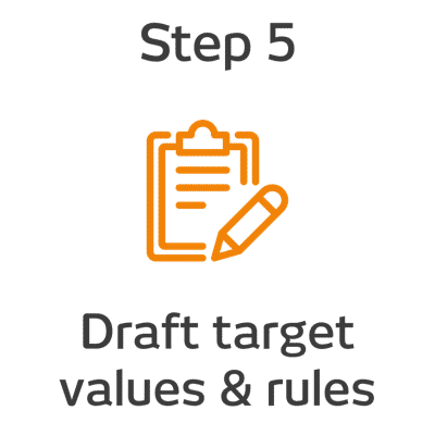 ROKET-DS Step 5 - Draft target values and rules