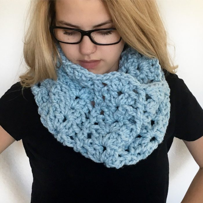 Chunky Lace Cowl Crochet Pattern Made With A Twist