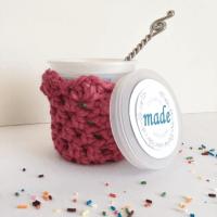 Free Crochet Pattern: Lil Pint Ice Cream Cozy