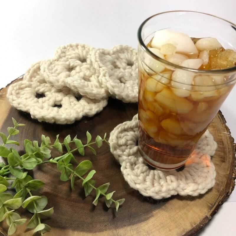 Free Crochet Pattern for Chunky Coasters