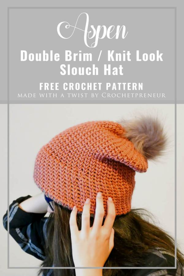 """bb9bddb1228b0 This double brim knit-look beanie is the third of four hats being  highlighted in my """"All the Double Brim Hats"""" series. You can find the  others here"""