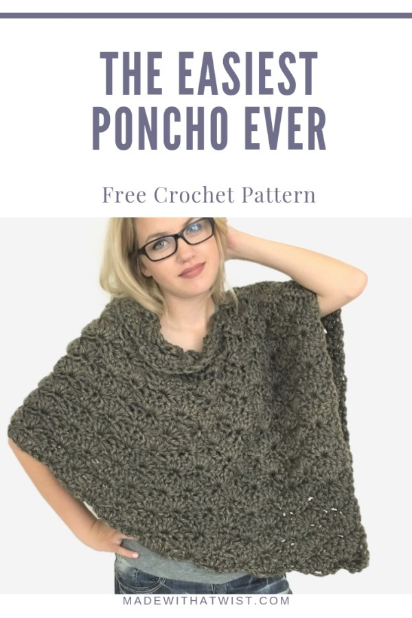 a pinterest image with a single poncho photo