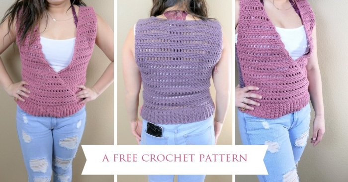 Spring has sprung and lightweight layering is all the rage! This Cross My Heart Shell crochet pattern has a deep V-neck and adorable button embellishments. Ranging in sizes XS - L, it