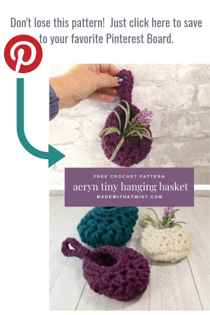Pinterest reminder image: pin this image of the aeryn tiny hanging sack basket