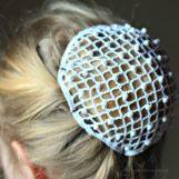Haarnetz mit Perlen